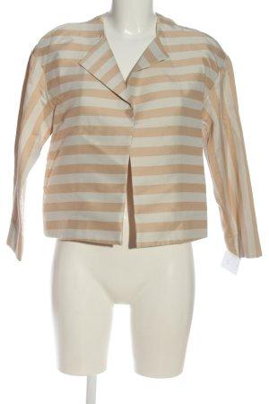 Sisley Kurz-Blazer nude-weiß Streifenmuster Elegant