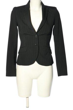 Sisley Short Blazer black-light grey striped pattern business style