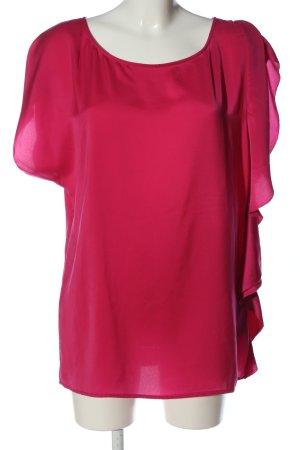 Sisley Kurzarm-Bluse rot Casual-Look