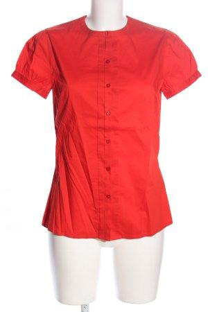 Sisley Kurzarm-Bluse rot Business-Look