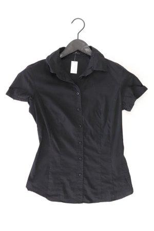 Sisley Kurzarmbluse Größe XS schwarz aus Baumwolle