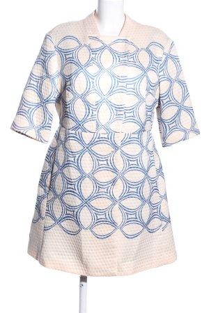Sisley Cappotto corto crema-blu stampa integrale stile casual