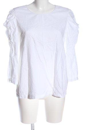 Sisley Langarm-Bluse weiß Casual-Look