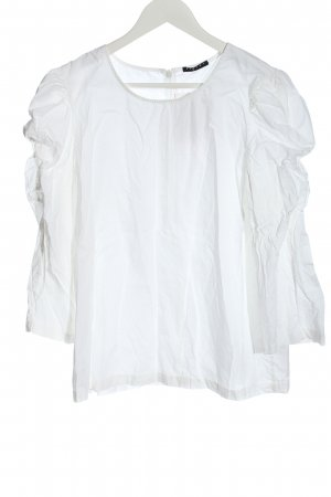 Sisley Camicetta a maniche lunghe bianco stile casual