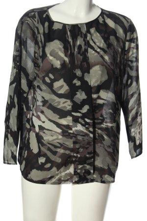 Sisley Langarm-Bluse Camouflagemuster Casual-Look