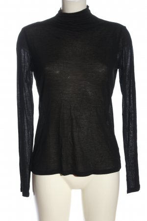 Sisley Blusa de manga larga negro moteado look casual