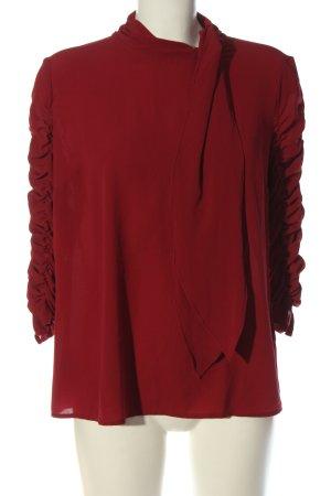 Sisley Langarm-Bluse rot Casual-Look
