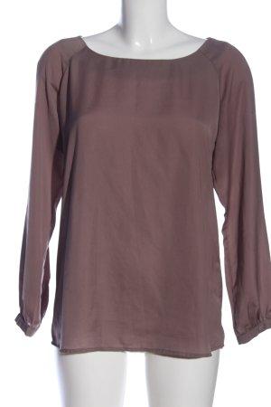 Sisley Langarm-Bluse braun Business-Look