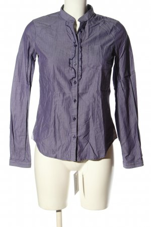 Sisley Langarm-Bluse lila-hellgrau Streifenmuster Business-Look
