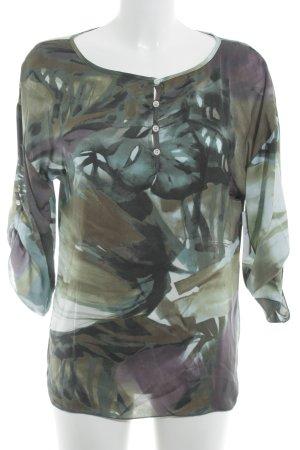 Sisley Langarm-Bluse abstraktes Muster Casual-Look