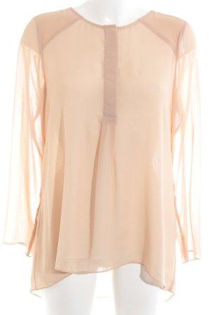 Sisley Langarm-Bluse nude klassischer Stil