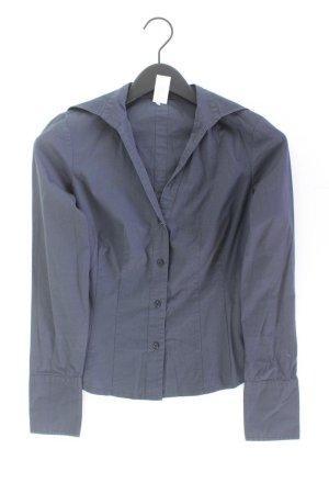 Sisley Long Sleeve Blouse blue-neon blue-dark blue-azure cotton