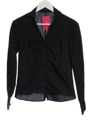 Sisley Camicia a maniche lunghe nero stile casual