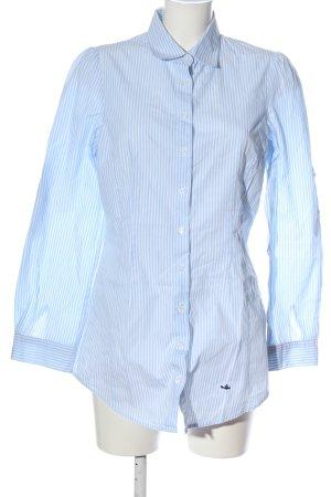 Sisley Langarmhemd blau-weiß Allover-Druck Business-Look