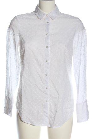 Sisley Camisa de manga larga blanco elegante