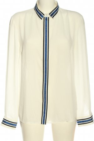 Sisley Camisa de manga larga blanco puro look casual