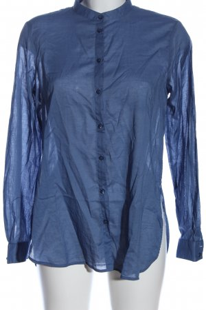 Sisley Langarmhemd blau Business-Look
