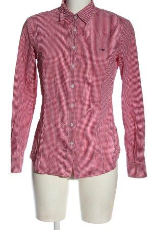 Sisley Koszula z długim rękawem czerwony-biały Na całej powierzchni