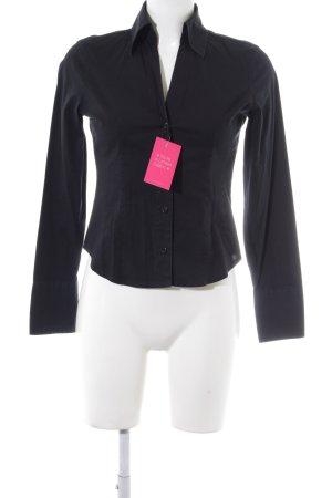 Sisley Langarmhemd schwarz schlichter Stil
