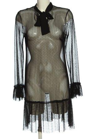 Sisley Vestido de manga larga negro elegante