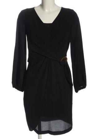Sisley Vestido de manga larga negro look casual
