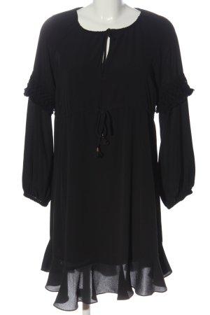 Sisley Langarmkleid schwarz Elegant