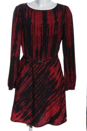 Sisley Langarmkleid rot-schwarz Casual-Look