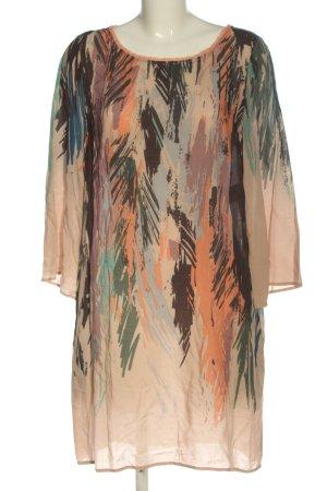 Sisley Vestido de manga larga estampado con diseño abstracto look casual