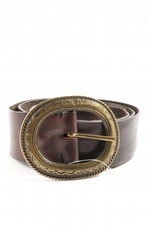 Sisley Cintura di pelle bronzo-oro stile casual