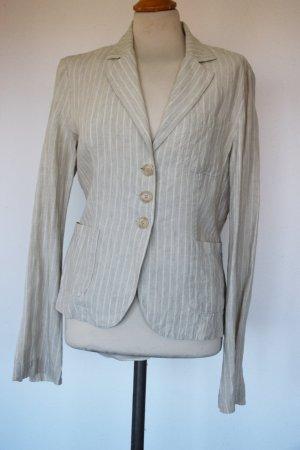 Sisley - Leinen Blazer Jacke mit dünnem Streif Gr. 40