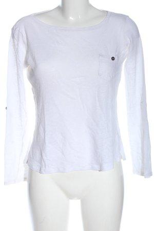 Sisley Blouse en lin blanc élégant