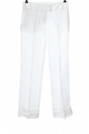 Sisley Pantalone di lino bianco stile casual