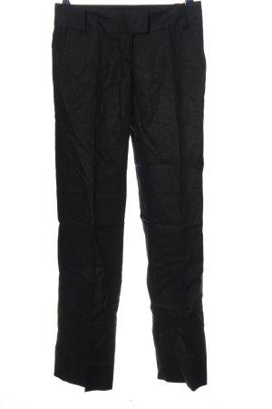 Sisley Pantalone di lino nero stile casual