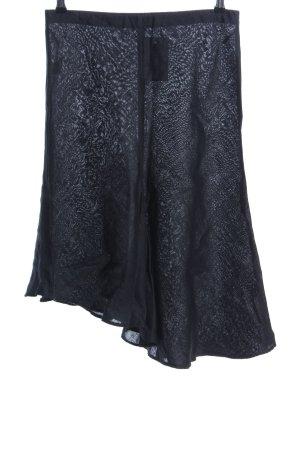 Sisley Jupe en lin gris clair motif abstrait style décontracté