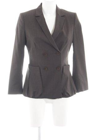 Sisley Long-Blazer bronzefarben Streifenmuster Business-Look