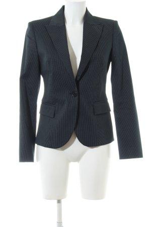 Sisley Long-Blazer schwarz Streifenmuster Business-Look