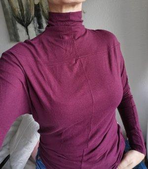 sisley, long sleeve, Rollkragen, shirt, Burgunderrot, S