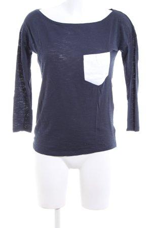 Sisley Longsleeve blau-weiß meliert Casual-Look