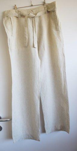 Sisley - Luftige Leinen Hose mit dünnem Streif Gr. 40