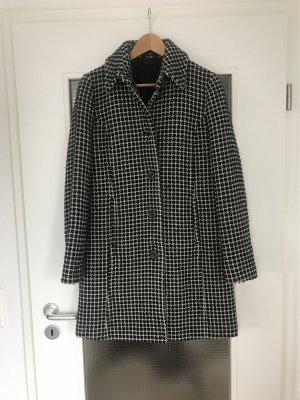 Sisley Wool Coat black-white wool