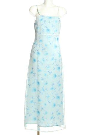 Sisley Maxikleid türkis-blau Allover-Druck Casual-Look