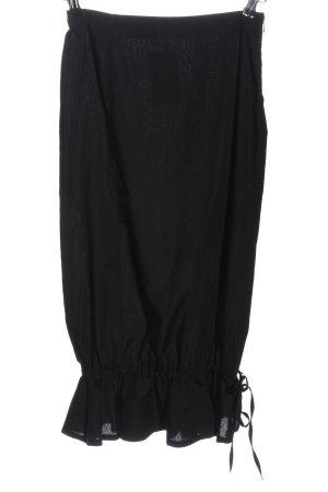 Sisley Spódnica midi czarny W stylu casual
