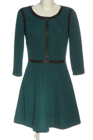 Sisley Minikleid türkis-schwarz Casual-Look