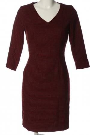 Sisley Minikleid rot-braun grafisches Muster Casual-Look