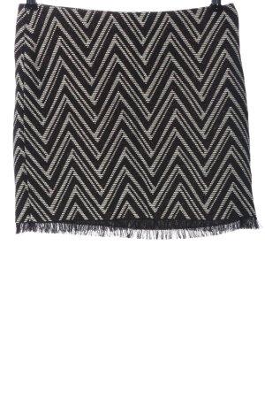 Sisley Minirock schwarz-weiß grafisches Muster Casual-Look