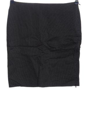 Sisley Minirock schwarz-weiß Streifenmuster Business-Look