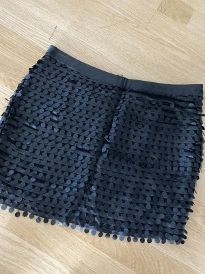 Sisley Jupe en cuir synthétique noir