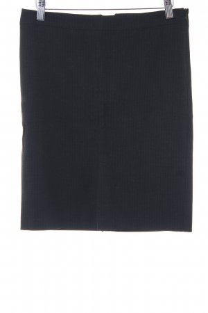 Sisley Minirock dunkelgrau Streifenmuster Business-Look