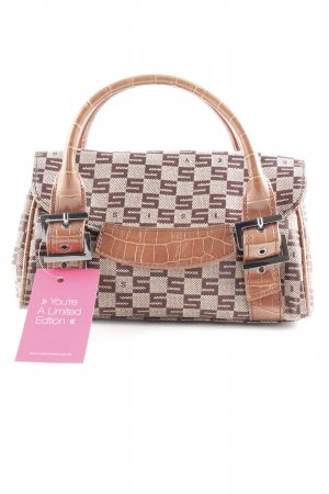 Sisley Mini Bag cognac-coloured-beige mixed pattern business style