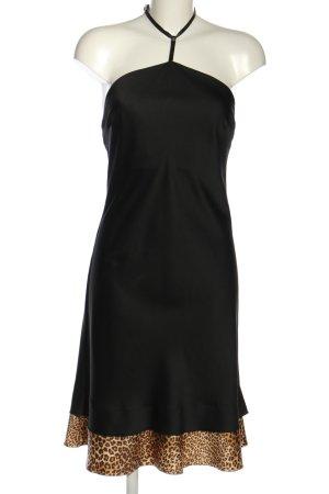 Sisley Vestido de cuello Halter estampado de leopardo elegante